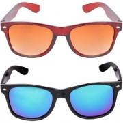 Aligatorr Combo Of 2 Wayfarer Unisex Sunglasses kc bnkc merCRLK