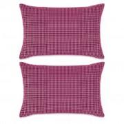 vidaXL Conjunto de 2 almofadas em veludo 40x60 cm rosa