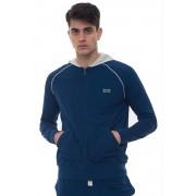 Boss Felpa zip con cappuccio Mix&Match Jacket H Bluette Cotone Uomo