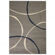 vidaXL Модерен килим, дизайн на кръгове, 80x150 см, сив