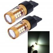 2 Pcs 7440 15W 1300lm 28 Smd-3030 6500K LED Coche Luces De Freno Luz De La Vuelta, DC 12V (luz Blanca)