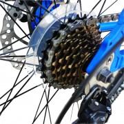 Bicicleta MTB-HT 24 Velors V2456A cadru aluminiu albastru alb