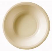 Plato de Plastico Hondo Crema Round PP Ø195mm (600 Uds)