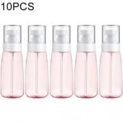 10 PCS Portable Refillable Plastic Fine Mist Perfume Spray Bottle Transparent Empty Spray Sprayer Bottle 100ml(Pink)