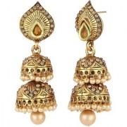 Penny Jewels Alloy Imitation Wedding Party Wear Artificial Jhumka Jhumki Earring Set For Women Girls