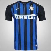 Nike Camisa Inter de Milão I 17/18 Nike - Masculina - PRETO/AZUL