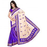 Indian Style Sarees New Arrivals Latest Women's Art Silk Traditional self Design Saree with blouse silky tuch blue
