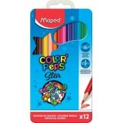 Creioane colorate Color Peps Star cutie metal 12 culori/set Maped