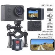 Somikon UHD-Action-Cam mit WLAN, Sony-Sensor, wasserdicht ohne Gehäuse, IPX8