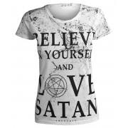 t-shirt hardcore donna - BELIEVE... - AMENOMEN - OMEN124DA