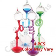 Colorful Office Thinking Hand Boiler, Glass Science Energy Transfer, Children Science Experiment, Love Birds Color Meter Hand Boiler, 4 Pcs (Color May Vary) By C&H®