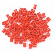 LEGO Technic NEW 100 pcs RED BUSH Bushing Cross Axle Connector Lot Mindstorms NXT EV3 car robot robotics building small Part Piece 3713