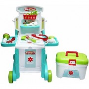 3 in 1 Little Doctor Kids Play Set Portable Folding Work Bench Including Medical Box