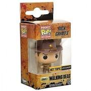 Funko - Porte cl Walking Dead - Rick Grimes Blood Splattered 4cm - 0849803070755