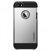 Spigen Pouzdro / kryt pro Apple iPhone 5 / 5S / SE - Spigen, Tough Armor Satin Silver