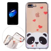 iPhone 7 Plus Case, Love Bear Pattern Electroplating Frame Soft TPU Protective Case