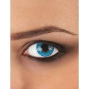 Lentillas de contacto fantasía azul 3 tonos Única