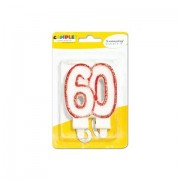 Sweeping party candelina glitter numero 60