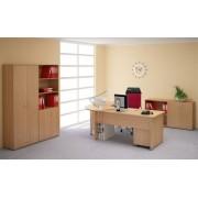 Lenza Kancelářský nábytek sestava Impress 1 PLUS tmavý ořech