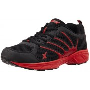 Sparx Men's Black and Red Running Shoes -8 UK