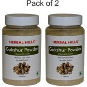 Herbal Hills Natural Gokhru / Gokshura powder (Tribulus terrestris) 100gms - Pack of 2 - For kidneys