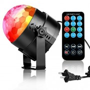 Disco Ball Disco Lights-NIUBIER DJ Lights Strobe Light Sound Actived Party Lights 3W Night Lights with Remote Control for Bar Club Karaoke Birthday Wedding Show and Outdoor