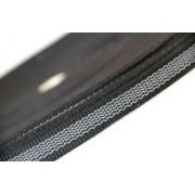 PES-Band schwarz beidseitiger Gummiauflage 12 mm 50 mtr. Rolle.