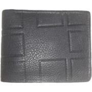 T.R. Leathers Men Casual Black Genuine Leather Wallet(5 Card Slots)