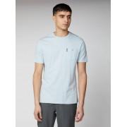Ben Sherman Script Plain Pocket T Shirt Small Lt Skyward