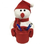 Ultra Soft Snowman Pen Stand Holder for Kids 8 inches