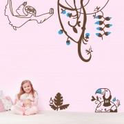 Stickere perete copii Jungla vesela - 112 x 150 cm
