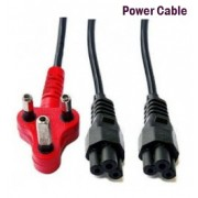 Power Cable 3 Pin to 2 Clover 2.8m Black