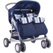 Детска количка за близнаци Lorelli TWIN Blue Anchor 2016, 10020071648