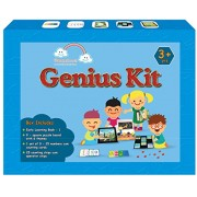 Genius Kit : A complete Math, English and GK Kit for 3 year olds(10 items in box: Early Learning Book -1, 6 puzzle sets , puzzle board, Advanced counting cards 0-25 , Counting cum operator chips)