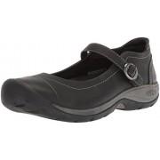 KEEN Presidio II MJ-W Zapatillas de Senderismo para Mujer, Negro/Gris (Black/Steel Grey), 6 US