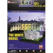 White House 3D Puzzle with LED Lights 56 Pieces