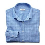 Ingram Leinenmix-Businesshemd, 39 cm - Blau/Weiss
