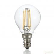 Bec LED CLASSIC E14 4W SFERA TRASPARENTE 3000K 101200
