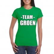 Shoppartners Team shirt groen dames voor training