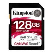 Kingston SDXC Canvas React 128GB Class 10 UHS-I V30 A1 Class 10 100MB/s