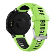 Two-tone Silicone Watch Band for Garmin Forerunner 220/230/235/620/630/F735XT - Green / Black