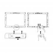 Página Completa De PVC Lupa Lupa Lupa De Lectura Plegable Con 4 Luces LED