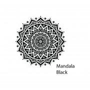 Toalla de playa Microfibra Diseño Mandala H&B Black