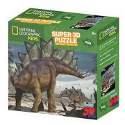 National Geographic Ng10811 Kids Super 3D Stegosaurus Puzzle (150-Piece)