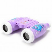GoaPly Creative Children Cute Bottle Style Mini Toy Binoculars for Outdoor Nature Exploration/Bird Watching/Travel - 6x Magnification - Especially for Little Hands (Purple)