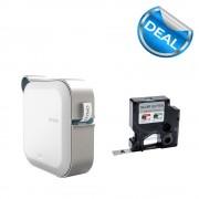 Imprimanta Etichete Bluetooth Dymo MobileLabeler si o caseta etichete profesionale D1 12 mm x 3m negru argintiu 1978246 DY 2084401