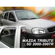 Deflektory komplet 4 ks pre MAZDA Tribute , 2000-2008