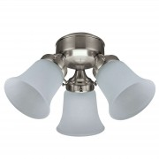 Light for Hunter ceiling fans, nickel