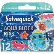 Salvequick Aqua Block Kids 12 st Plåster
