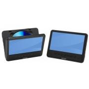 Denver Portabler Twin DVD Player mit zwei 7 LCD Bildschirmen